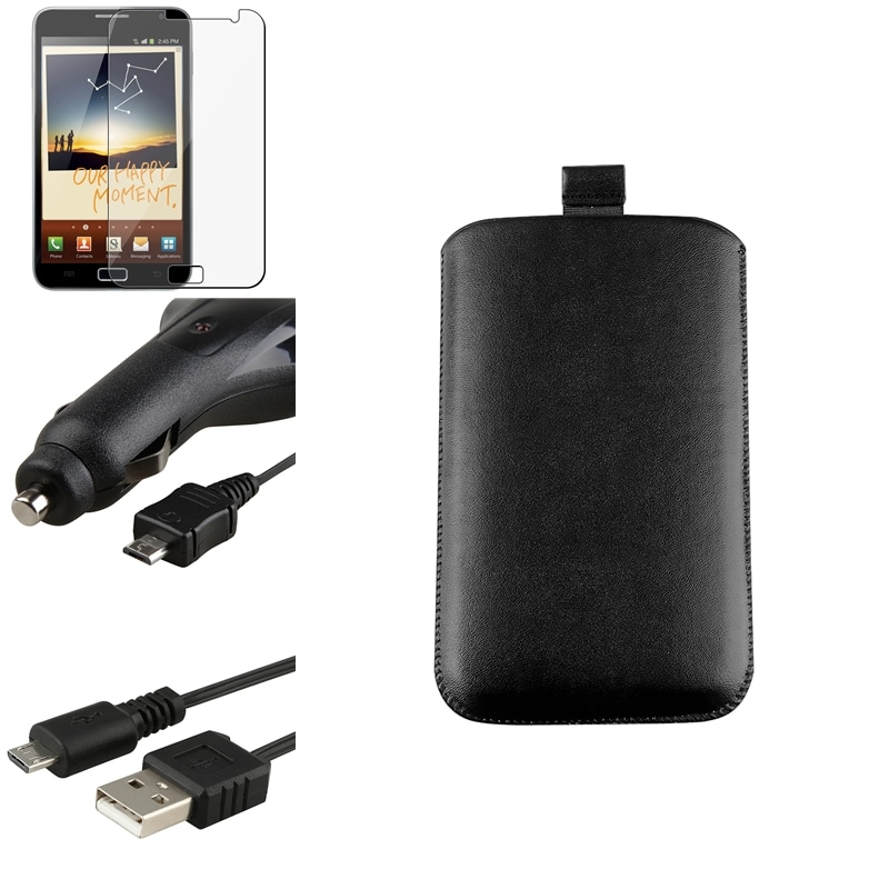 Pouch/ LCD Protector/ Cable/ Car Charger for Samsung Galaxy Note N7000