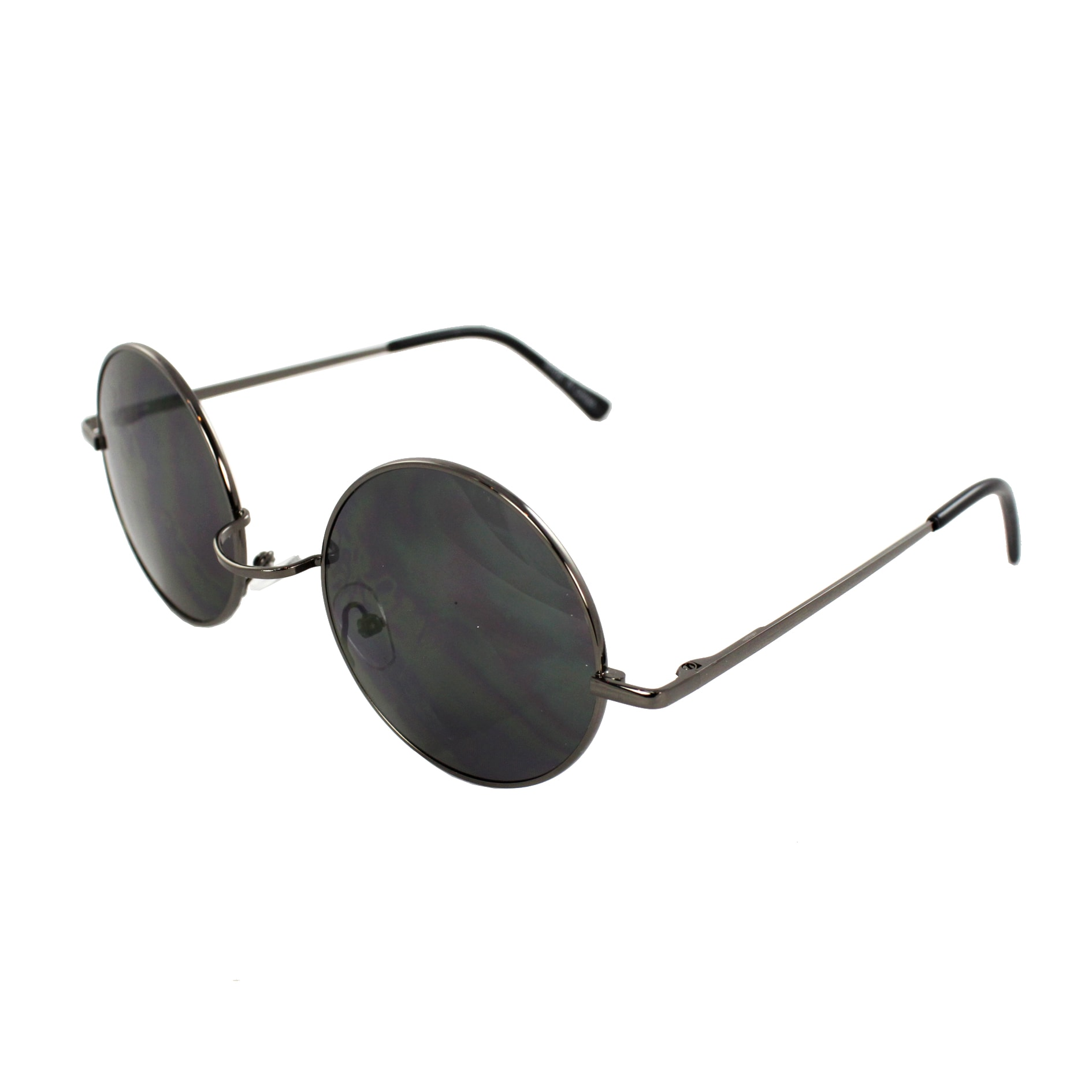 Retro Round Sunglasses Black Frame and Black Lenses for Women and Men