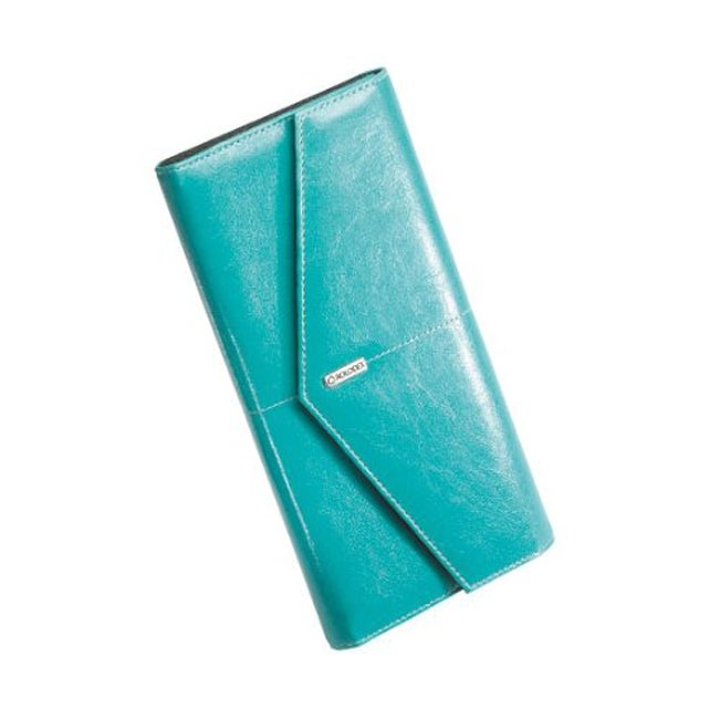 Rolodex Casual Turquoise Vinyl Business Card Book with Note Cards