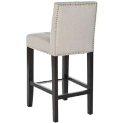 Safavieh Noho Beige Linen Nailhead Trim Counter Stool