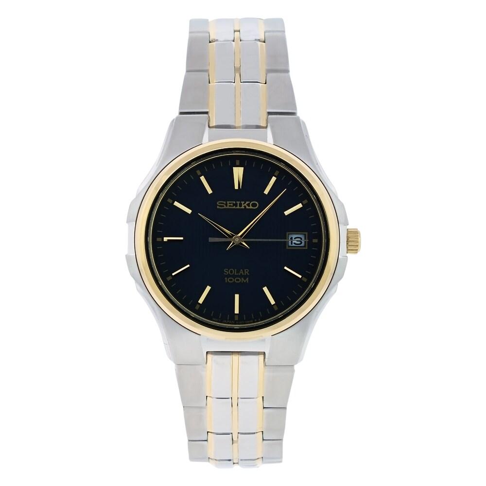 Seiko Men's Solar Stainless Steel Watch