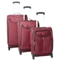 Kemyer Celebrity Lightweight 3-piece Burgundy Expandable Spinner Luggage Set