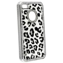 Leopard Case/ Home Button Sticker/ Dust Cap for Apple iPhone 4/ 4S