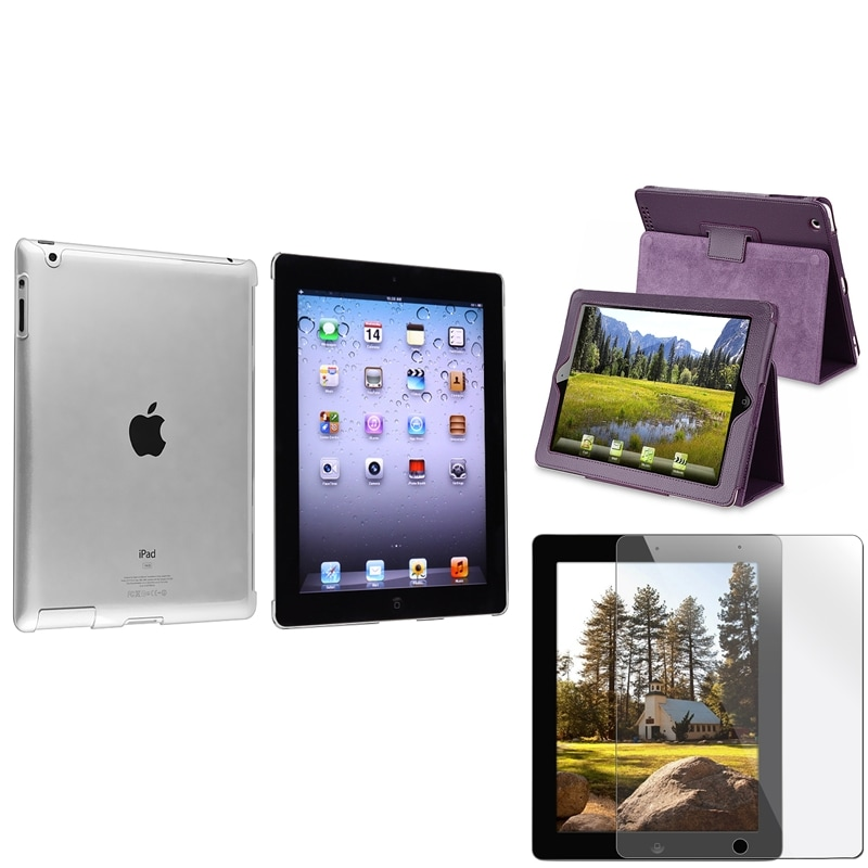 Crystal Case/ Protector/ Leather Case for Apple iPad 2/ 3/ New iPad