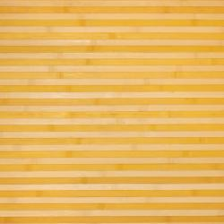 Asian Hand-woven Yellow/ White Bamboo Rug (2' x 3')