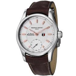 Frederique Constant Men's 'Vintage Rally' Silver Dial Automatic Watch