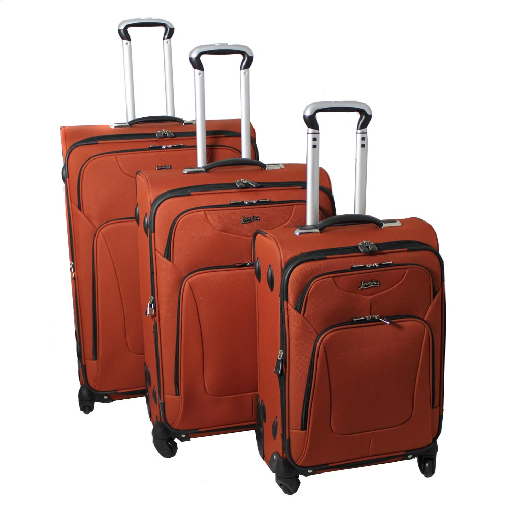 Jourdan Hassle Free Lightweight 3-piece Rust Expandable Spinner Luggage Set