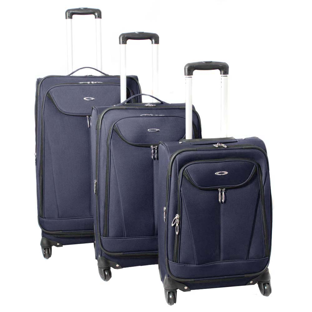 Kemyer Celebrity Lightweight 3-piece Navy Expandable Spinner Luggage Set