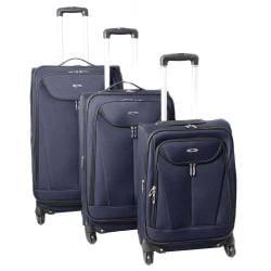 Kemyer Celebrity Lightweight 3-piece Navy Expandable Spinner Luggage Set