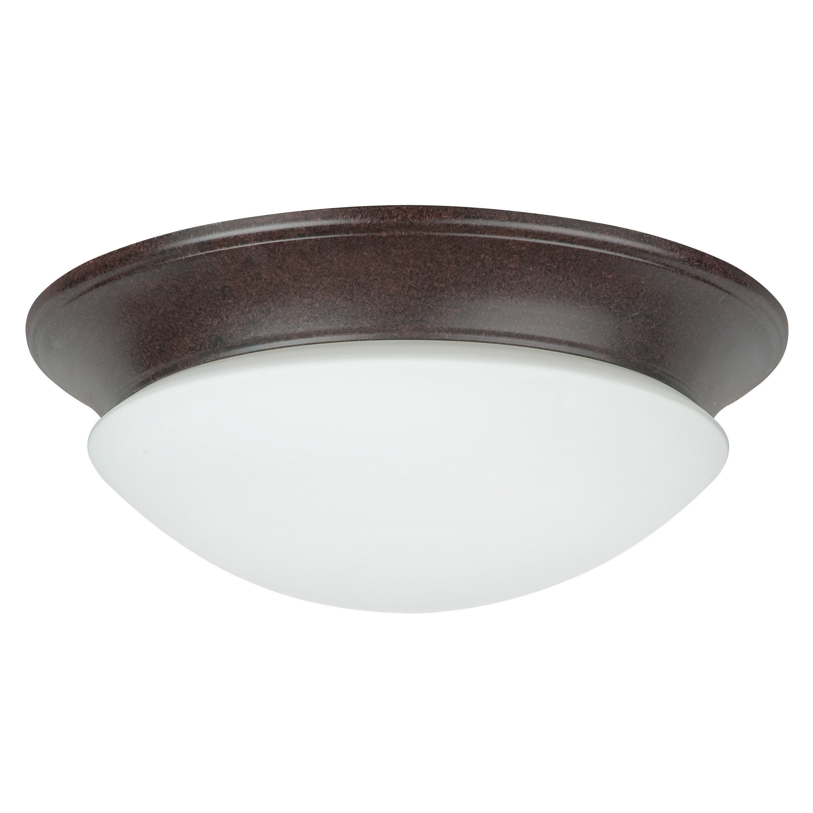 Two Light Rubbed Bronze Flush Mount