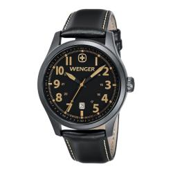 Wenger Men's TerraGraph Black Dial Black Leather PVD Case Watch - 0541.105
