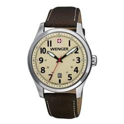 Wenger Men's TerraGraph Eggshell Dial Brown Leather Watch  0541.106