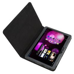 BasAcc Black Leather Case for Samsung Galaxy Tab P7100 10.1v