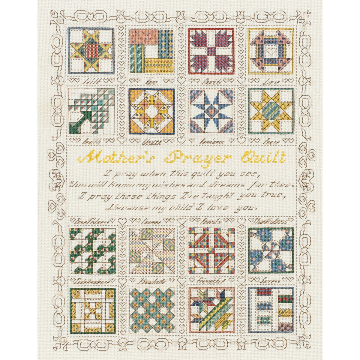 Mothers Prayer Counted Cross Stitch Kit 15X18 14 Count