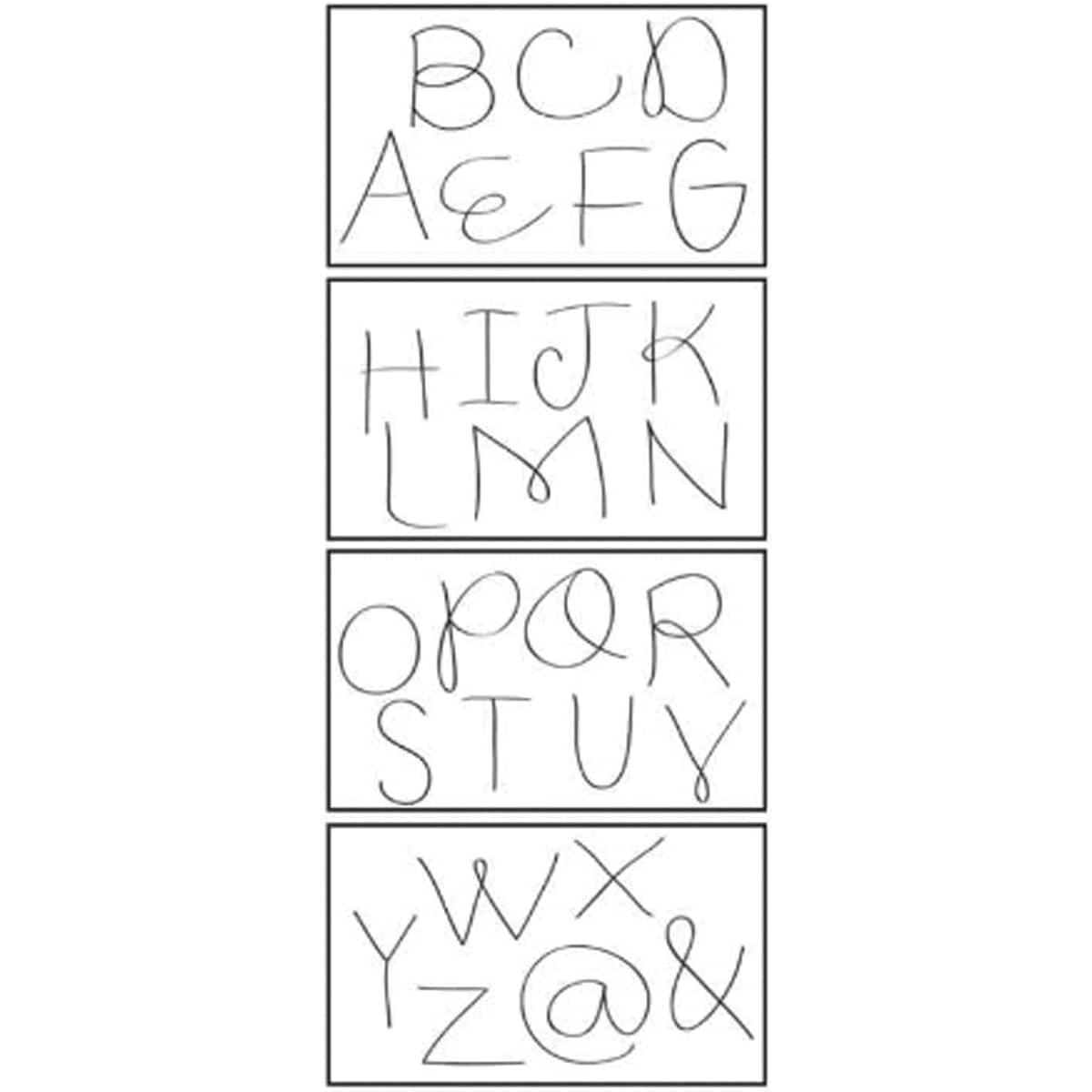 """Bazzill In Stitch'z Templates 3""""X4"""" 4/Pkg-Heidi Lynn's Caps"""
