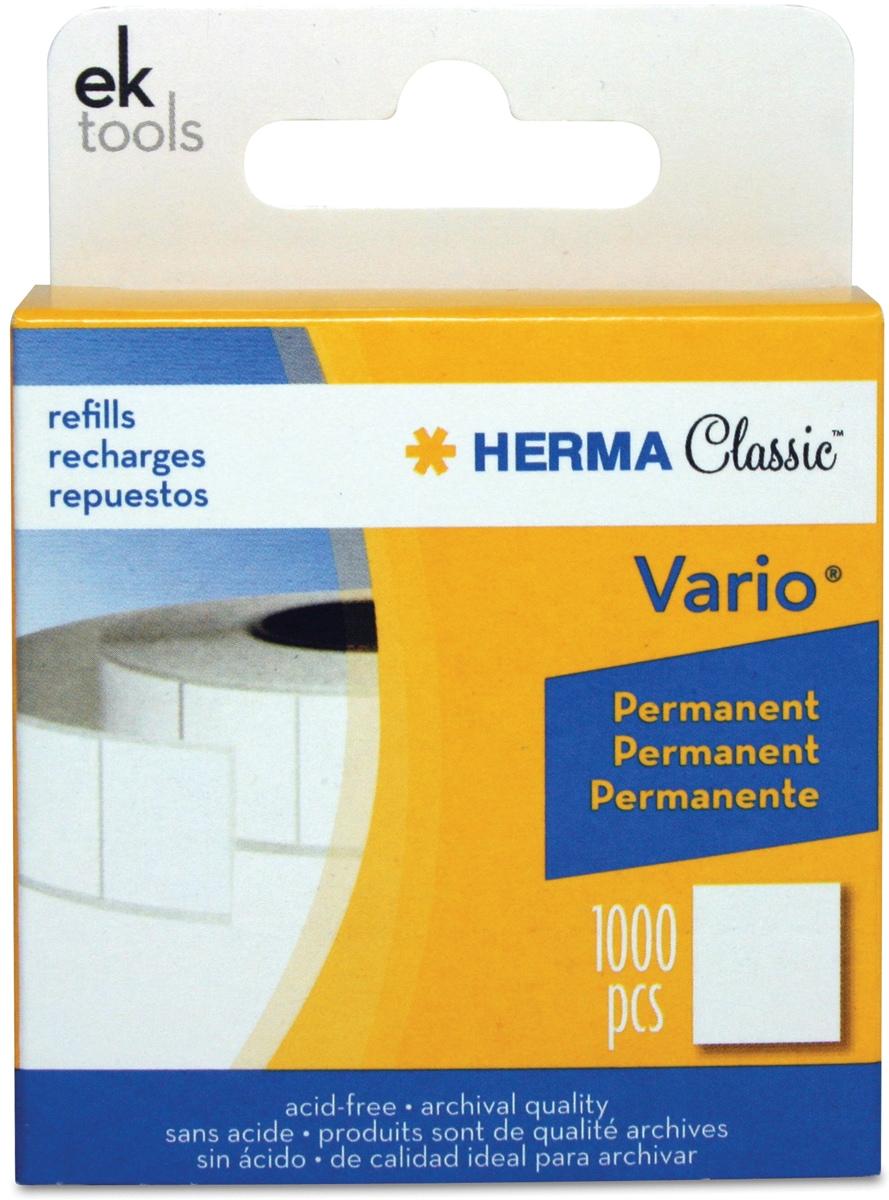 EK Success Vario Permanent Adhesive White Tab Refill (1000/Pkg)