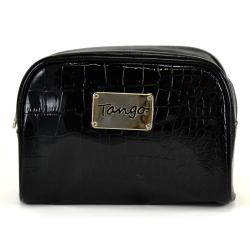 Tango Black Crocodile Scoop Travel Pouch
