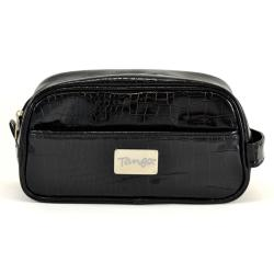 Tango Black Crocodile Dopp Kit