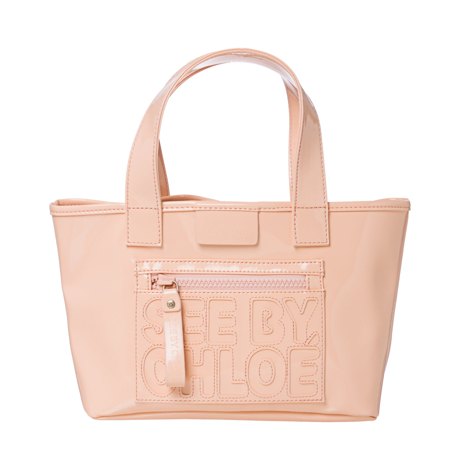 See by Chloe Mini Peach PVC Tote Bag