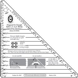 "Small Diagonal Set Triangle Ruler-3""-9"" Blocks"