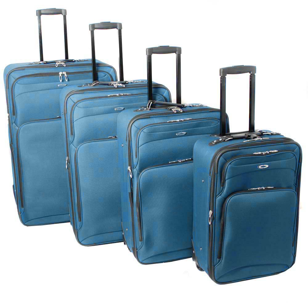 Kemyer Vacationer Lightweight Ocean Blue 4-piece Expandable Luggage Set