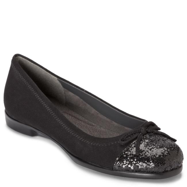 A2 by Aerosoles Sbectrum Black Sequin Ballet Flat