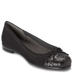 A2 by Aerosoles Sbectrum Black Sequin Ballet Flat