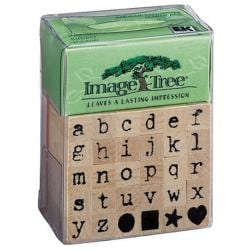 Image Tree Handle Rubber Stamp Set-Antique Typewriter Alphabet/Lower