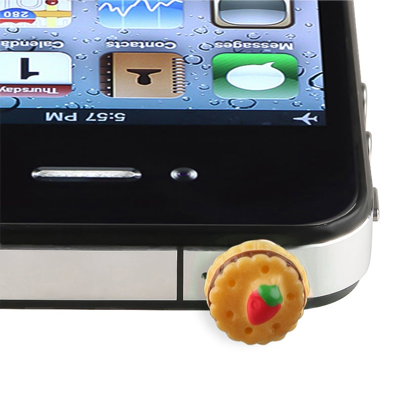Cookie with Strawberry Headset Dust Cap for Apple® iPhone/ iPod