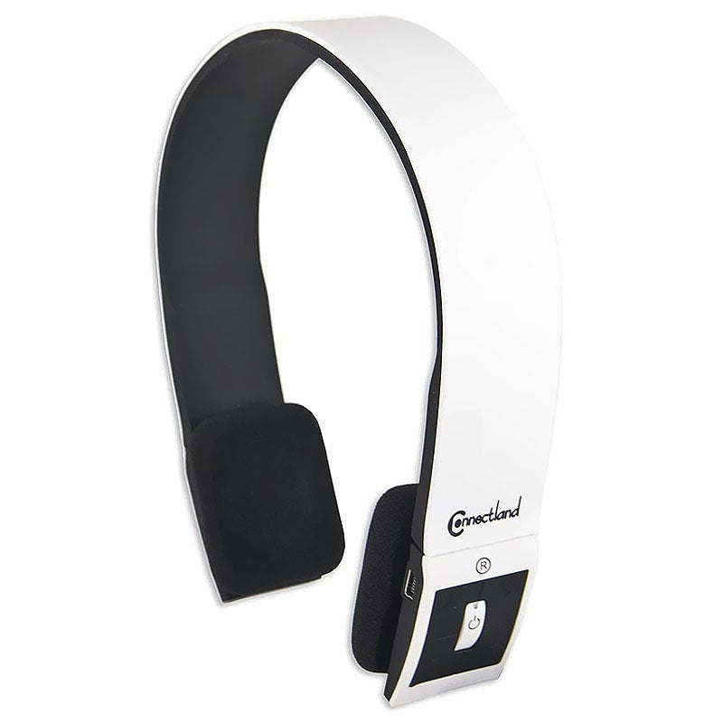 Connectland White Modern Over-ear Headset with Microphone CL-AUD23029