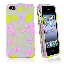 Green Leaf Snap-on Rubber Coated Case for Apple� iPhone 4/ 4S