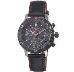 Tissot Men's PRS-200 Black Chronograph Watch