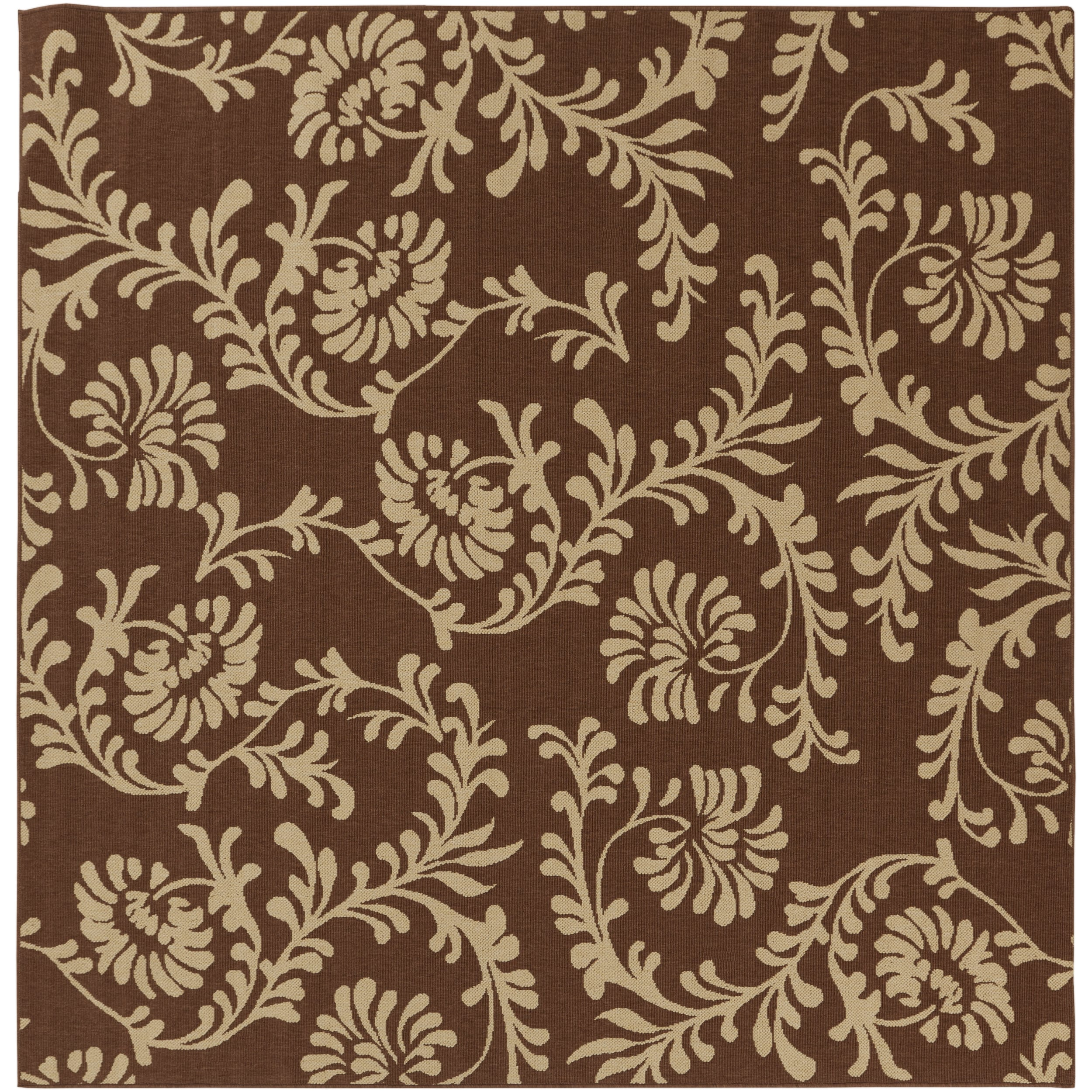Turin Russet Floral Indoor/Outdoor Rug (8'9 x 8'9)