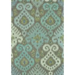 Montague Grey/ Mist Wool Rug (5' x 7'6)