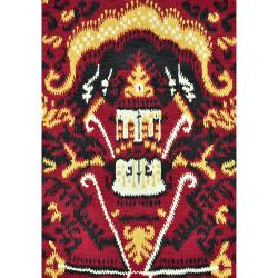 Montague Red Wool Rug (3'6 x 5'6)