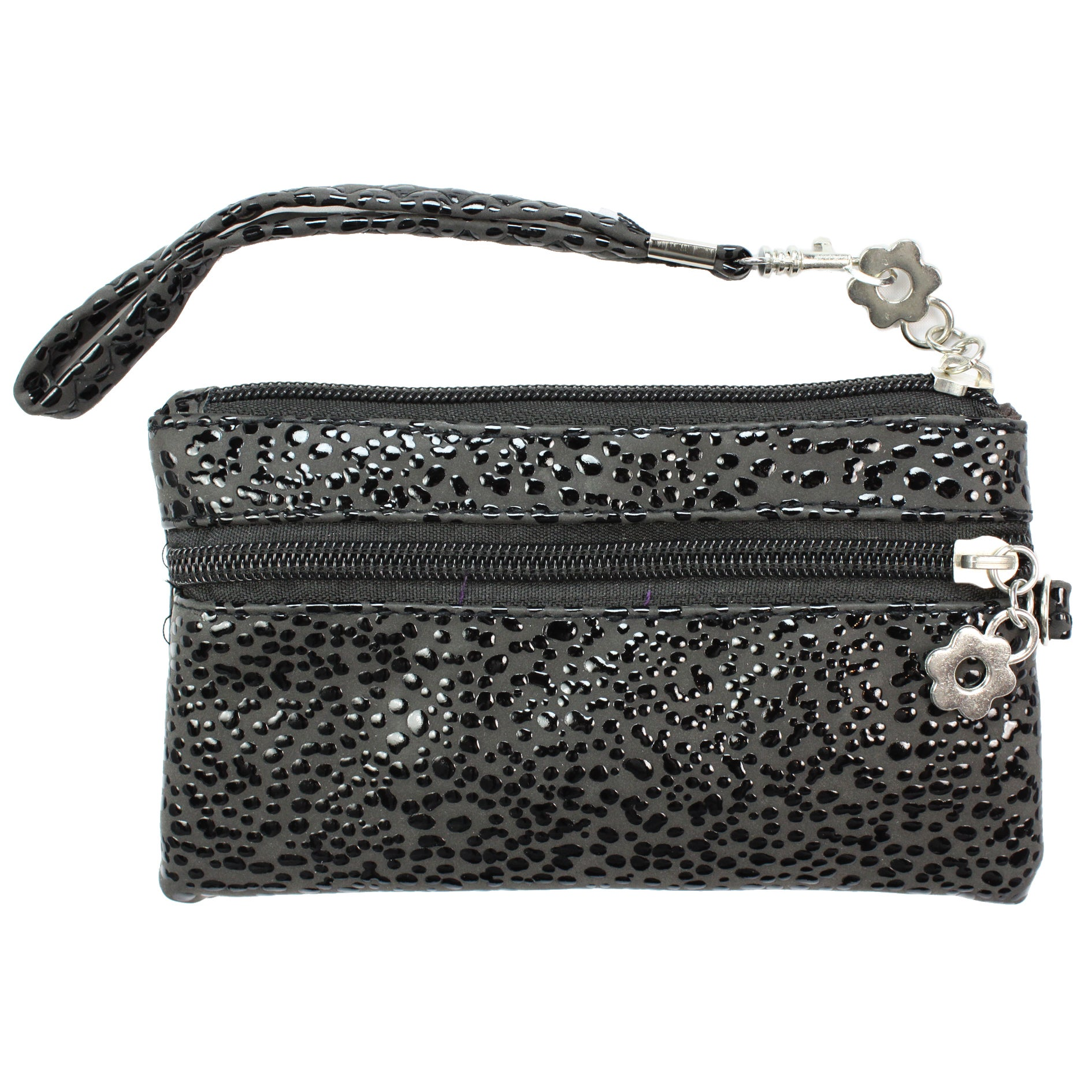 Fashion PU Multi-purpose Wallet / Coin Purse Black Splash Design
