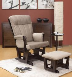 Jacob Glider Rocker with Ottoman and Side Table