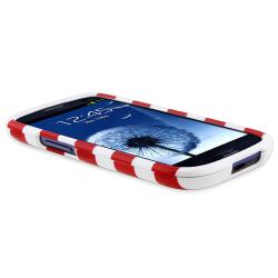 Red Stripe Snap-on Case for Samsung Galaxy S III