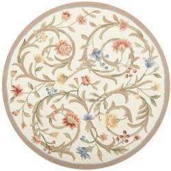 Safavieh Hand-hooked Garden Scrolls Ivory Wool Rug (5'6 Round)