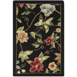 Safavieh Hand-hooked Chelsea Gardens Black Wool Rug (1'8 x 2'6)