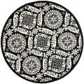 Hand-hooked Chelsea Heritage Black Wool Rug (8&#39; Round)