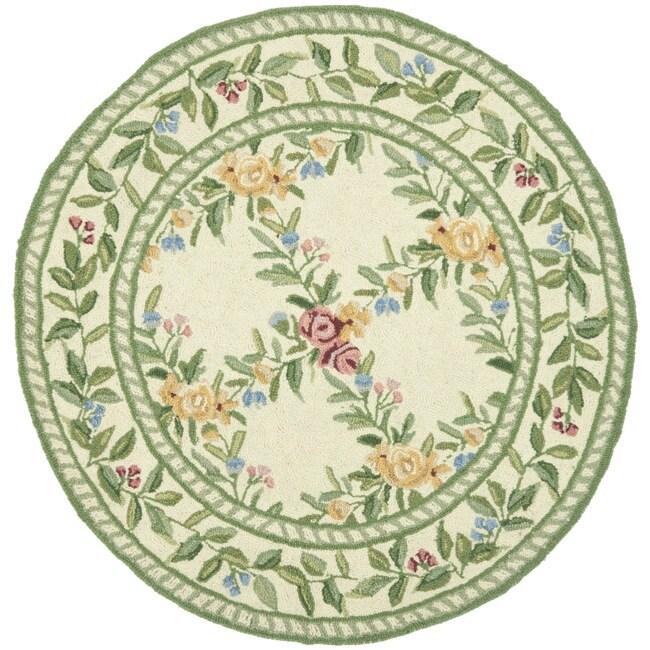 Safavieh Hand-hooked Garden Trellis Ivory Wool Rug (3' Round)
