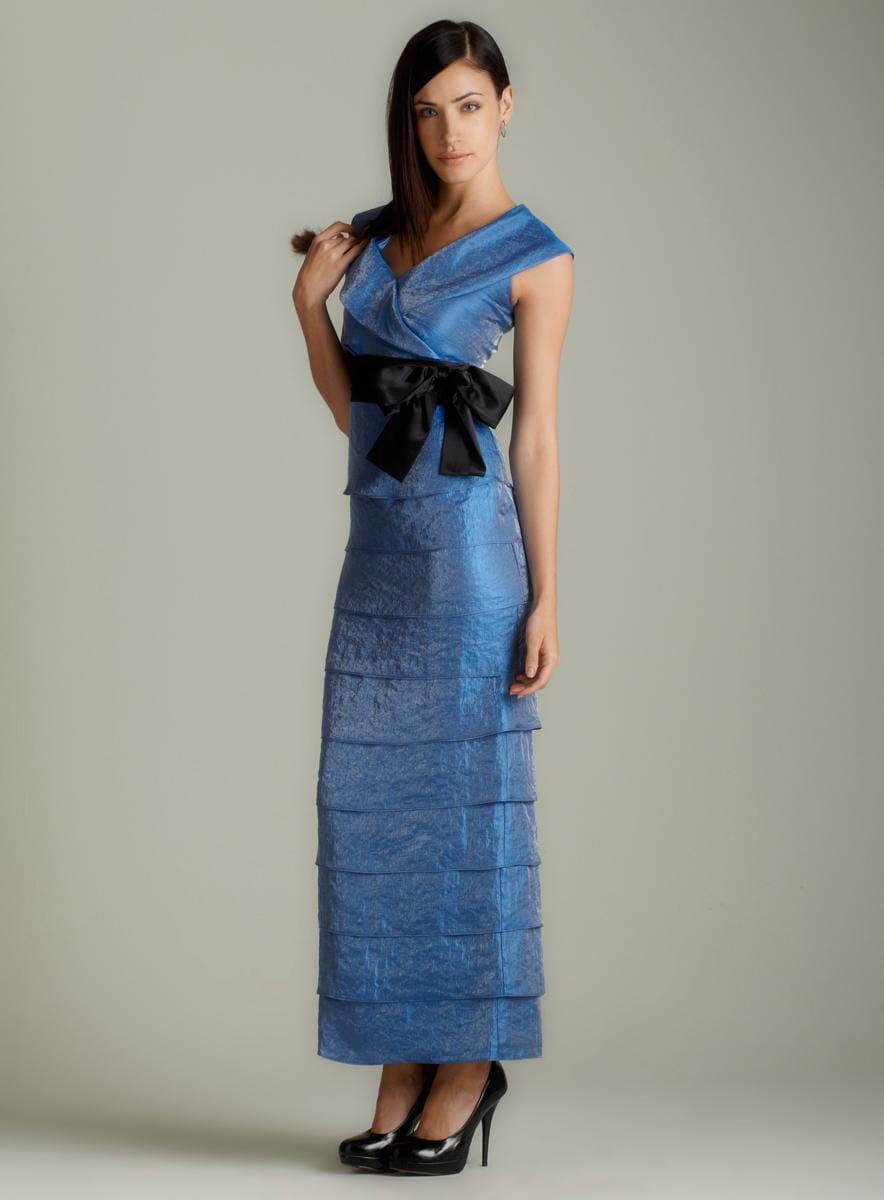 Marina Shutter Pleat Self Belt Gown
