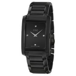 ESQ by Movado Men's 'Venture' Black Ion-plated Steel Watch