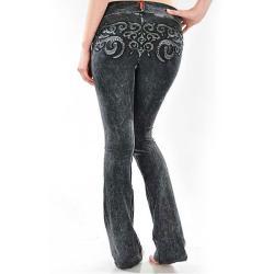 Tabeez Women's Scroll Mineral wash Yoga Pants