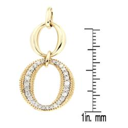 D'sire 10k Yellow Gold 2/7ct TDW Diamond Circle Pendant Necklace