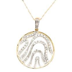 D'sire 10k Yellow Gold 3/7ct TDW Diamond Pendant Necklace
