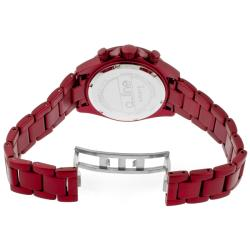 a_line Women's 'Amore' Red Aluminum Watch