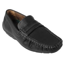 Oxford & Finch Men's Topstitched PU Leather Loafers