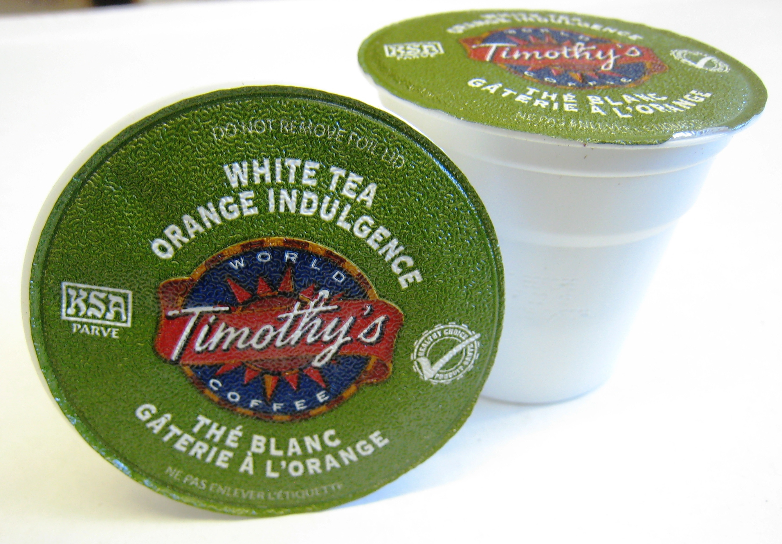 Timothy's White Orange Indulgence Tea for Keurig Brewers (Pack of 96)